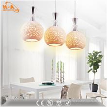 Lampe pendante moderne en céramique LED en gros avec motif