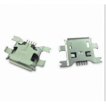 Micro USB 5P Receptacle SMT Drop-in (Shell Dip-Smt)