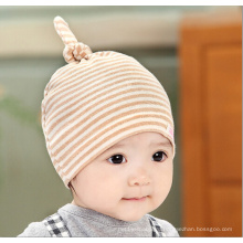 Baby Colored Cotton Striped Knitted Hat