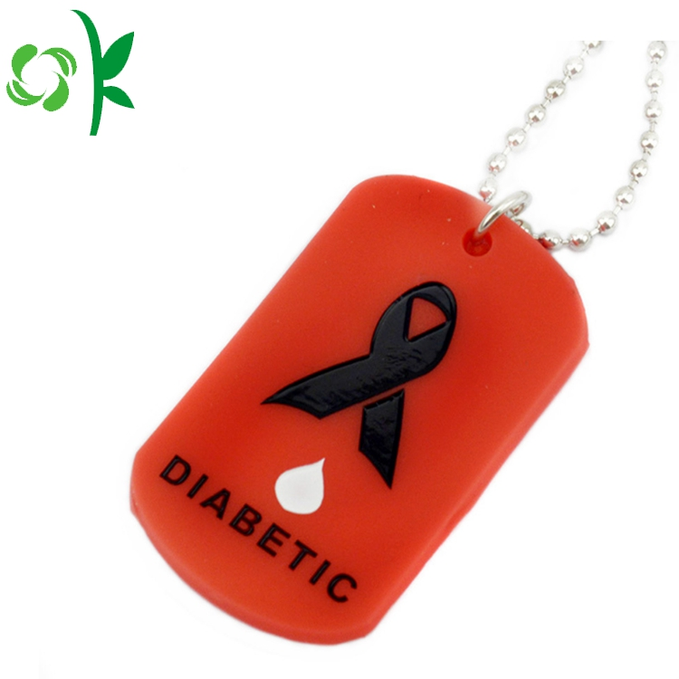 Red Silicone Pet Tag