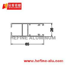 Extruded aluminium for windows and doors