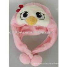 lindo sombrero de peluche de pollo para niños