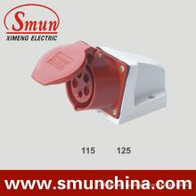16А/32А настенного монтажа гнезда IP44 3р+N+Е 5pin для промышленных
