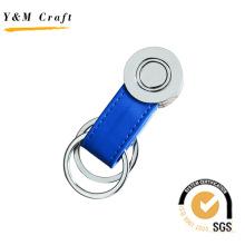 Llavero personalizado con logotipo promocional de metal y cadena (Y04081)