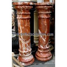 Stone Granite Sandstone Piliers en marbre pour décoration maison (QCM139)