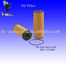 Filtro de aceite lubricante Elemento 104 180 01 09 para Mercedes-Benz