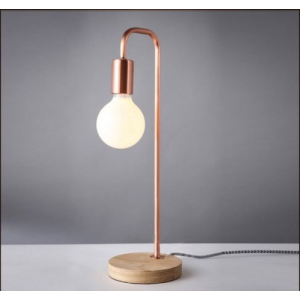 Solid Wood Base Design Desk Table Lamp