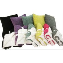 Knitting Fabric Double Layers Blanket, Fashion& Beautful Acrylic Throw