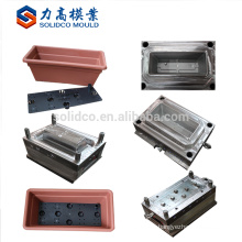 Square plastic flower pot mould with base tray