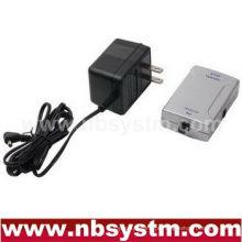 Adaptador de áudio digital óptico para coaxial