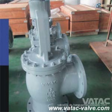 Winkel-Typ Flansch-Guss-Stahl BS1873 Globe-Ventil