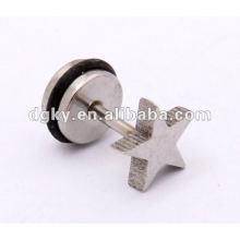 Stainless Steel Star design men ear piercing styles