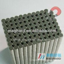 D12.7 * 2.54mm Super forte NDFEB Magnet