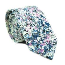 Новые поступления 2018 цветочным принтом, мужские зауженные пользовательские хлопок галстук