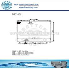 RADIATEUR 93-97 Pour TOYOTA 1640015480/1640015481 Fabricant COROLLA et vente directe!