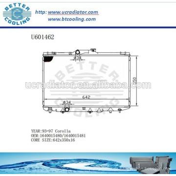 RADIATOR 93-97 Für TOYOTA 1640015480/1640015481 COROLLA Hersteller und Direktverkauf!