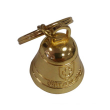 Suiza Regalo de recuerdo Deboss Grabar Logo Golden Bell personalizado (F8009)