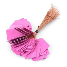 Бирка пурпурового цвета Strung с Sring, бумажным вися Strung Hangtag