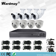 Sistem Kit DVR Keselamatan CCTV 8chs 1.0MP