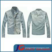 Factory Wholesale Light Blue Denim Jacket for Men (JC7021)