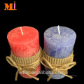 Top Rank Supplier Decoration Use Vanilla Flavour COUNTRY STYLE Pillar Candles Grey A la venta Precios