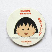 Round Advertisement Paper Fridge Magnet