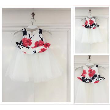 Guangzhou Factory Flower Tulle Vestido de casamento para criança Cute Casual Girl Dress Wedding Party Dress