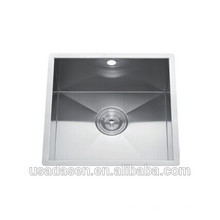 Comercial Best Selling DS-4444 pia caddy de aço inoxidável banheiro ocidental cozinha pia única bacia