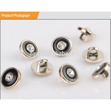 UV chapado botón de resina con Rhinestone BA60086