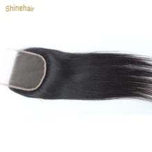Brazilian Straight Swiss Lace Closure Bleached Knots