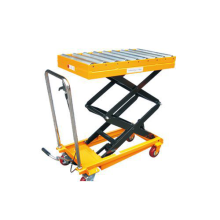 Portable Hydraulic Roller Conveyor double Scissor Lift Table