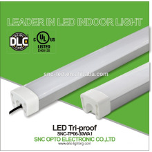 DLC UL listed 30W industrial led tri proof light/ip65 led tri-proof tube