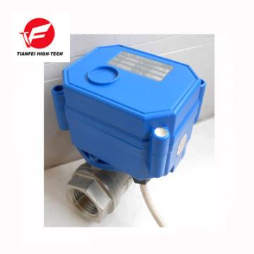 dc3.6v 6v 12v dn20 cr05 cwx-15q motorisé ss304 robinet à boisseau sphérique