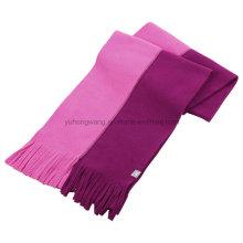 Двойной цвет Зимний теплый вязание Полярный шарф из флиса