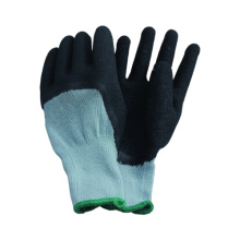 10g tricotado sem costura Terry Brushed Liner Latex Coated Glove