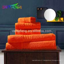 Serviettes de bain 100% bambou de couleur unie et douce