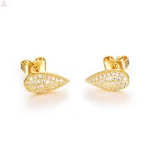 Mulheres Cristal 18k Gold Plating Brincos De Cobre