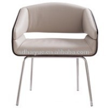 Popular Living Room Chair Soft Seat Negro Cuero sofisticado vestidor sillas