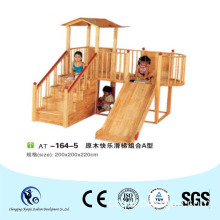 Home Install Wooden Slides for Family Use Made of Log