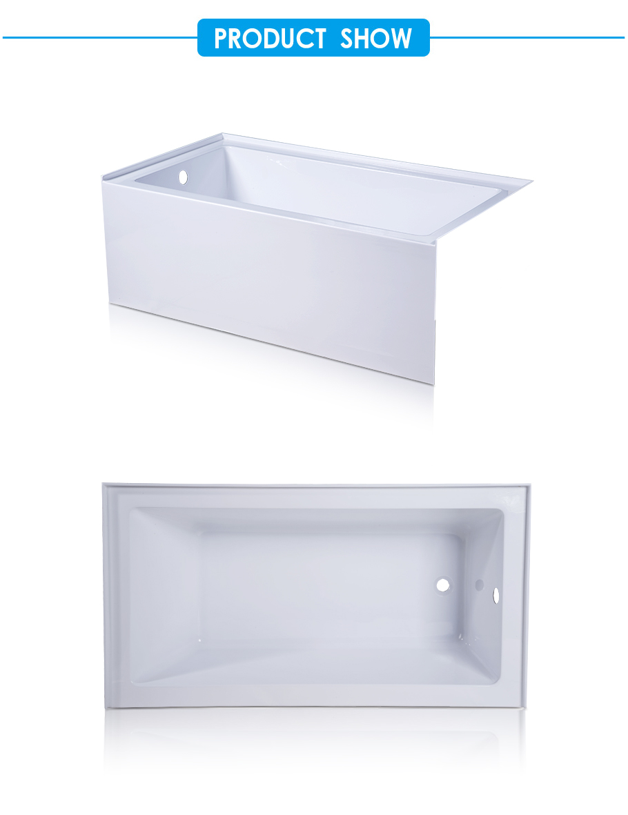 Layla Skirted Bathtub in White Acrylic