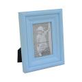 Distressed Blue Wooden Photo Frame for Desktop Decoration