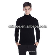Men roll polo neck cashmere sweater
