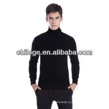 Мужчины рулон поло шеи кашемировый свитер