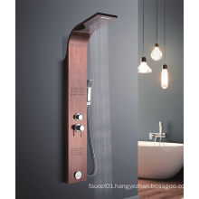 YL-5533 Hot sale stainless steel jet rain shower panel with hand spray