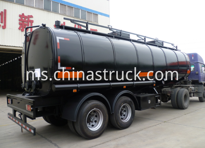 2 axle 30m3 liquid asphalt tank with insulation layer