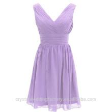 Venta al por mayor baratos de dama de honor vestidos de noche 2016 gasa vestido de noche con plisados mujeres vestidos de baile LBB05