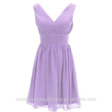 Wholesale Short Cheap Bridesmaid Dresses 2016 Chiffon Evening Dress with Pleats Women Prom Dresses LBB05