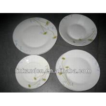 Haonai 16 piezas ronda cerámica étnica placa de la cena