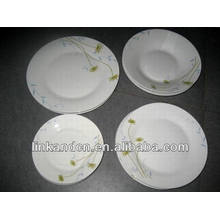 Haonai 16pcs round ethnic ceramic dinner plate set
