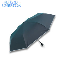 OEM Wholesale Cheap Promotional Cheap Custom 3 Fold Telescopic Windproof Reflective Custom Logo Umbrella for Warning Safety